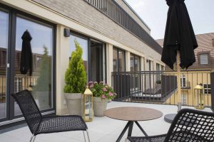 Terrasse Interims-Wohnung  by andy - for better moods