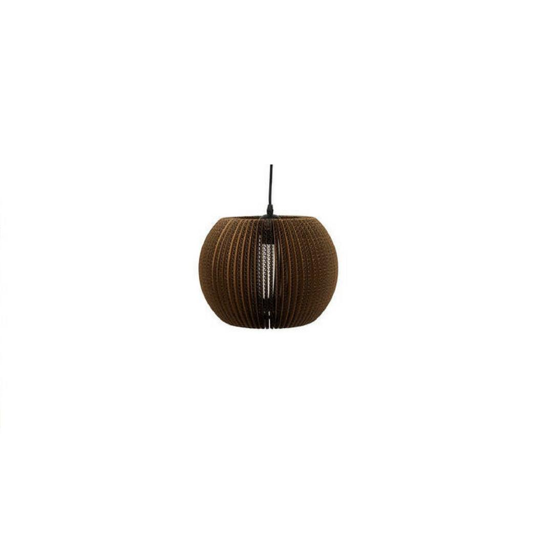 Lamellenlampe Karton rund von Dôme Deco |by andy - for better moods
