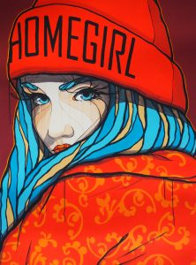 Homegirl Art by El Bocho   by andy - for better moods