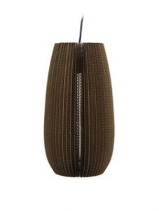 Lamellenlampe Zylinder Karton Dôme Deco   by andy - for better moods