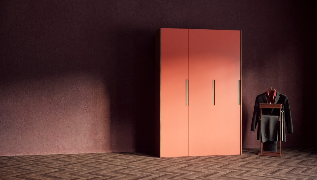 Living Coral_Farbe_LYNE Kleiderschrank_mycs | by Andy - for better moods | Trend Living Coral