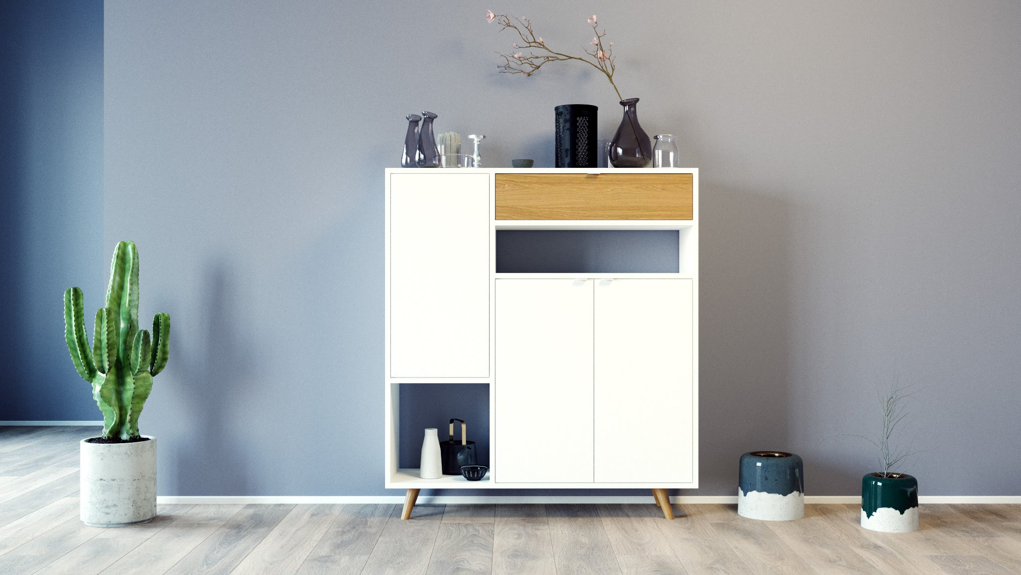 GRYD Highboard _GRYD Kommode_wei· und buche_MYCS | by andy - for better