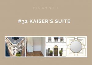 Entwurf Nummer zwei für Kaiser's Suite