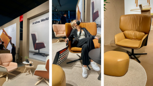Lounge Chair von Andreu World - Messe Mailand September 2021